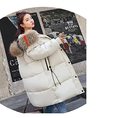 Lungo Giacca Cappotto Cotone Cotone Sciolto Grandi Azw Da Abbigliamento Spesso Invernale Dimensioni E Piumino Bianca In Donna Donna Di 4qgFw7ngp