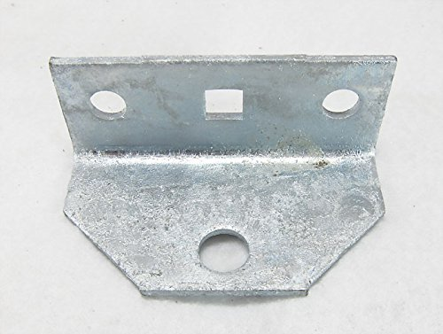 Swivel Top Angle Bracket, Galvanized, #86115G for Mounting Boat Trailer Bunk Boards to Bolster Brack ()