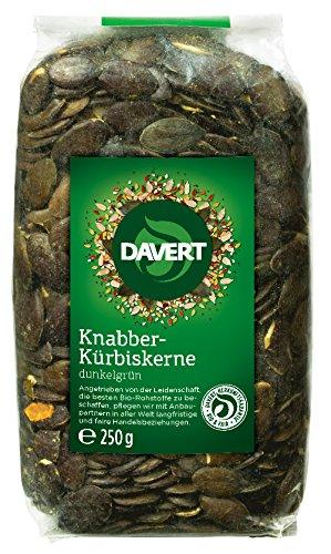 Davert Knabber-Kürbiskerne, 1er Pack (1 x 250 g) - Bio