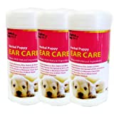 Alpha Dog Series Ear Care Wipes, 3 Pack
