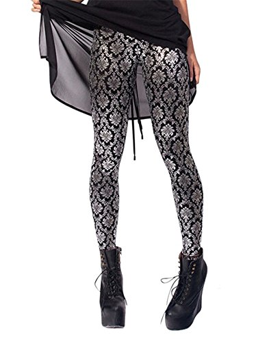 (Zanuce Women's Designed Digital Print Sexy Stretch Leggings(Decorative))