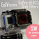 EelVision Snorkeling Filter (SW) for GoPro HERO4 / HERO3/3+ - Shallow Water Snorkel Underwater Color Correction