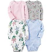 Carter's Baby Girls' Multi-PK Bodysuits 126g599, Floral, 6 Months