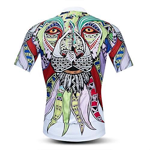 Weimostar cyhaen Men's Cycling Jersey Short Sleeve Breathable Biking Shirt