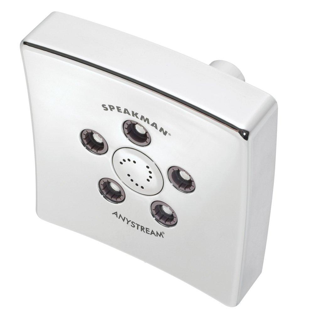 Speakman S-3021 Kubos Anystream High Pressure Adjustable 2.5 GPM Shower Head, Polished Chrome