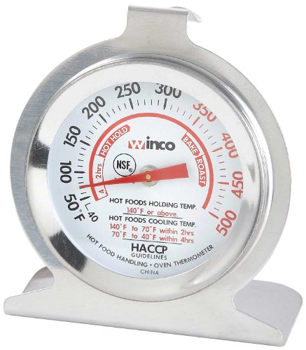 (Winco 2-Inch Dial Oven Thermometer with Hook and Panel Base)