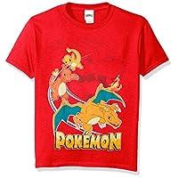 Camiseta de manga corta Charizard de Pokemon Big Boys, roja, grande /14-16