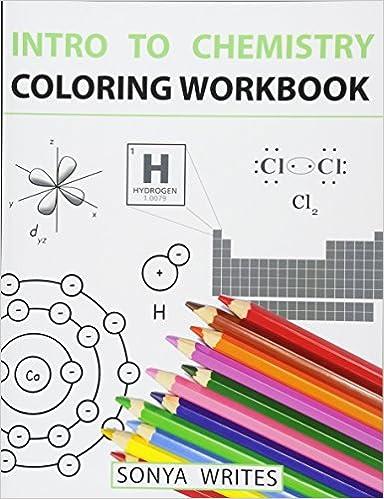 Amazon Intro To Chemistry Coloring Workbook 9781530439799 Sonya Writes Books