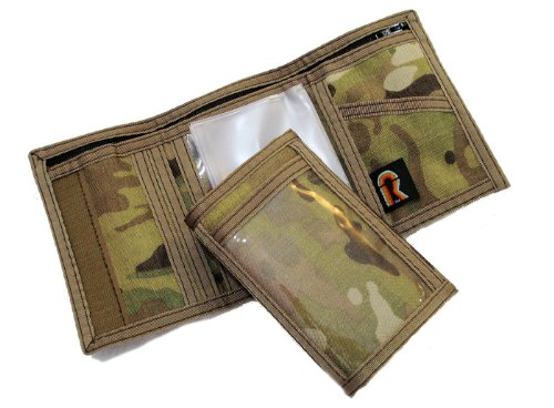 Military Camouflage Trifold Hook Wallet