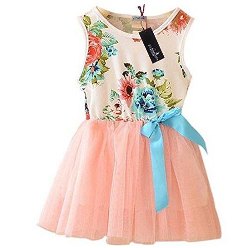 Girls Summer Sleeveless Floral Sundress product image