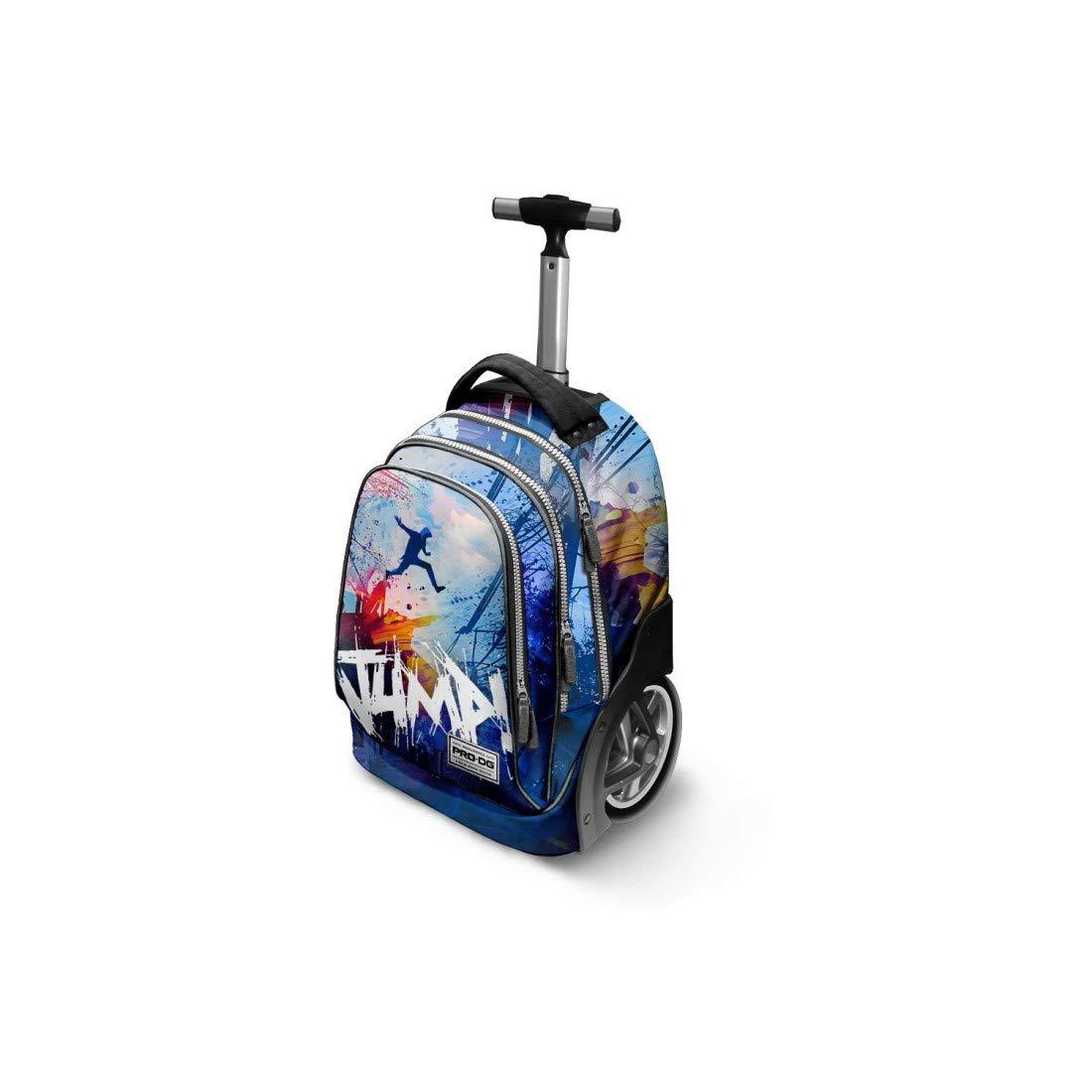 PRO-DG Mochila trolley niños del bolso de escuela azul jump VZ888: Amazon.es: Ropa y accesorios