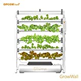 OPCOM Vertical Hydroponic Grow Wall — 75 Grow Sites, 5-Tier Display, Model# OFG003