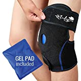 Ice Pack for Knee, Knee Support Brace with Gel Pad for Hot and Cold Therapy, Adjustable Ice Compression Knee Wrap for Sports Injuries Recovery