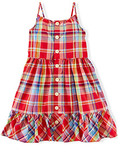 Ralph Lauren Polo Girls Plaid Madras Sleeveless Dress (2 (Ralph Lauren Polo Girls Madras)