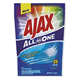 Ajax All in One Automatic Dish Detergent Pacs, Fresh Scent, 28/Pack (5 Packs/Carton) - BMC- CPC44427