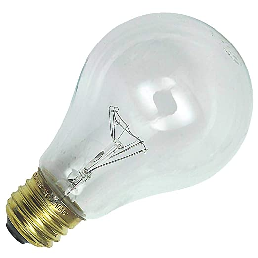Philips 222042 - 69 Watt Light Bulb - A21 - Traffic Signal - Clear - 8,000 Life Hours - 660 Lumens - 130 Volt