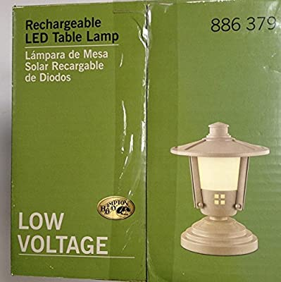 Rechargeable Hampton Bay Table Top Lamp Lantern Missionary Style