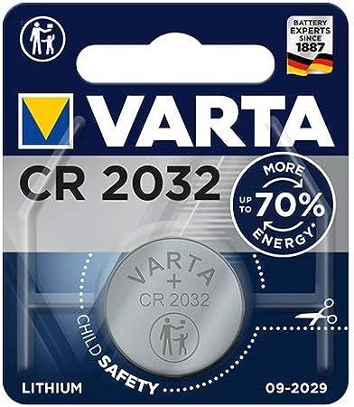 Comprar Pila de botón de litio de 3 V VARTA Electronics CR2032, pilas de botón en un blíster original de 1 unidad