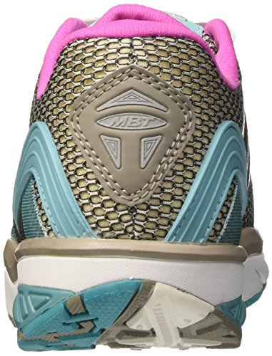 MBT Leasha Trail 6 Lace Up, Zapatillas de Deporte Exterior para Mujer Multicolor (Soft Gray/aqua Sea/pink Pop)