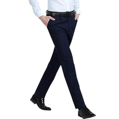 ZEVONDA Pantalones de Traje de Hombre - Pantalones de Estilo ...