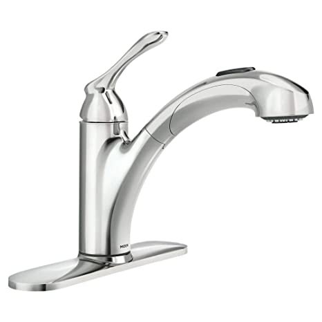 Moen 87017 One-Handle Pullout Kitchen Faucet, Chrome - - Amazon.com