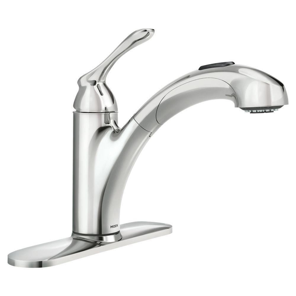 Moen 87017 One-Handle Pullout Kitchen Faucet, Chrome