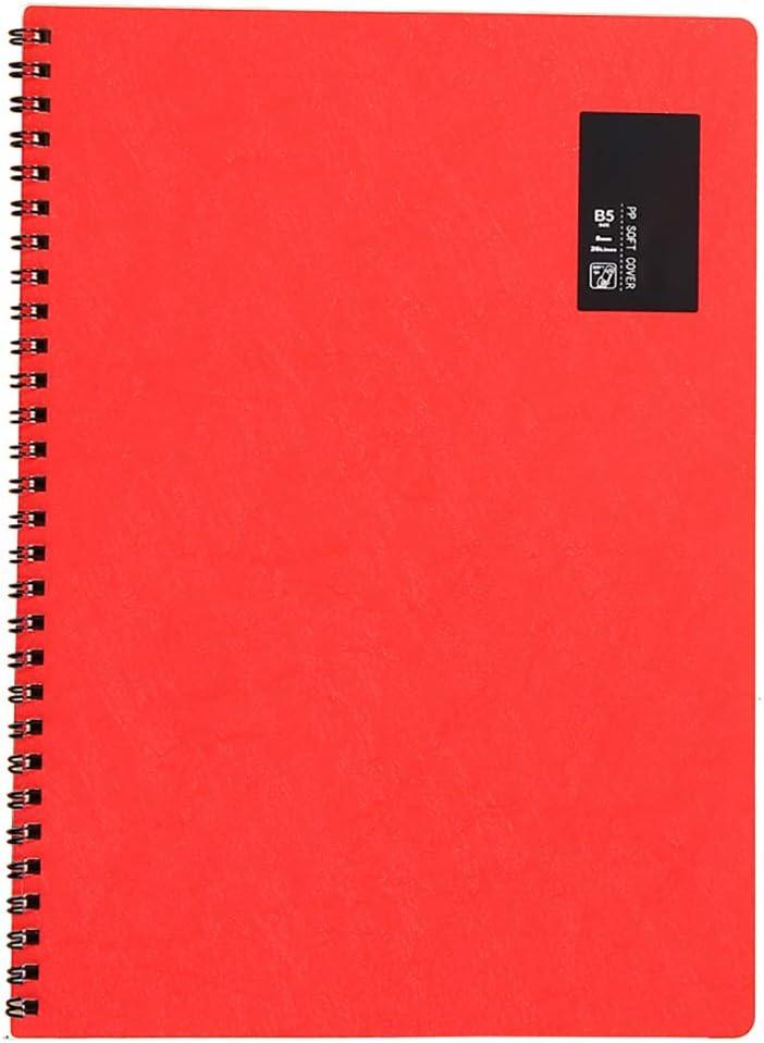 Z/·Bling Taccuino B5 Spirale a Righe,quaderno Spirale Blocco spiralato B5 Formato,50 fogli//100 Pagine Carta,Copertura in PP glassato