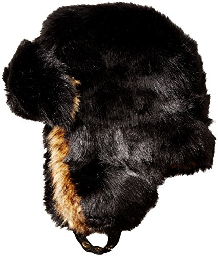 french-connection-womens-marie-faux-fur-trapper-black-wolf-small-medium