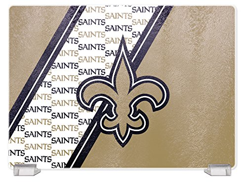NFL New Orleans Saints Tempered Glass Cutting Board with Display Stand