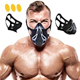 Sport Workout Training Mask for Running Biking Fitness Jogging Cardio Endurance Exercise Breathing with Air Flow Level Regulator to Simulate High Altitude Elevation Effects and Achieve Peak Resistance