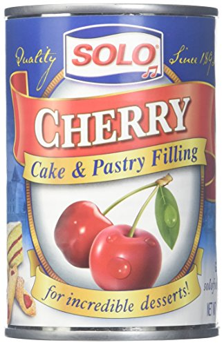Solo Cherry Cake and Pastry Filling, 12 Ounce (Pack of 6)