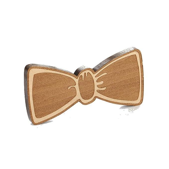 Pajarita de madera para hombre Corbatas de lazo de madera ...