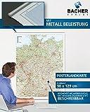 Straßenkarte Deutschland, 1:700 000, folienbeschichtet, inkl. Metallbeleistung