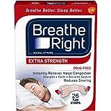 Breathe Right Nasal Strips to Stop Snoring, Drug-Free, Extra Tan