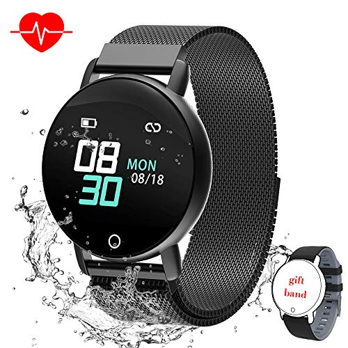 Smart Watch for Android iOS Phone, WELTEAYO Activity Fitness Tracker Watches Smartwatch with IP67Waterproof Notification SMS Heart Rate, Sleep Monitor Compatible for Men Women (Best Bluetooth Smartwatch For Android)