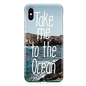Loud Universe Case for iPhone XS Wrap around Edges Beach Take Me To The Ocean Sleek Design Low Profile Durable iPhone XS Cover
