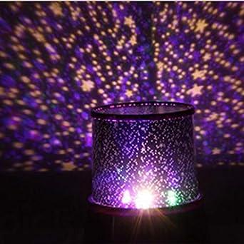 Lámpara LED de Luz Nocturna Estrella Proyector Sky Star Moon Niños ...