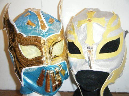 Ashleys Blue Sin Cara And Silver Rey Mysterio Masks -