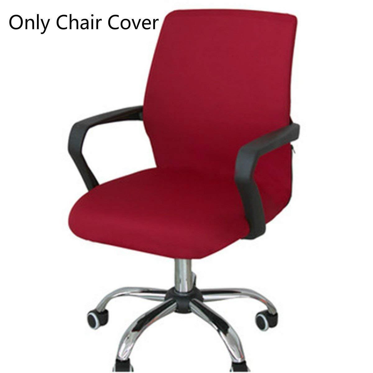 rot Large Bezug f/ür Sessel drehbar Stuhl Nicht im Lieferumfang enthalten Caveen B/ürostuhl-Bezug Computerstuhl abnehmbar dehnbar Schonbezug f/ür B/üro