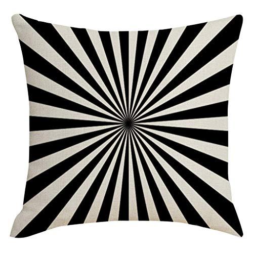 JUSTnowok Cushion Cover Pillowcase Modern Style Visual Trap Visual Disordered Line Hug Pillowcase Home Decoration Throw Pillow Cover 45x45cm Brown Zebra Oblong Pillow