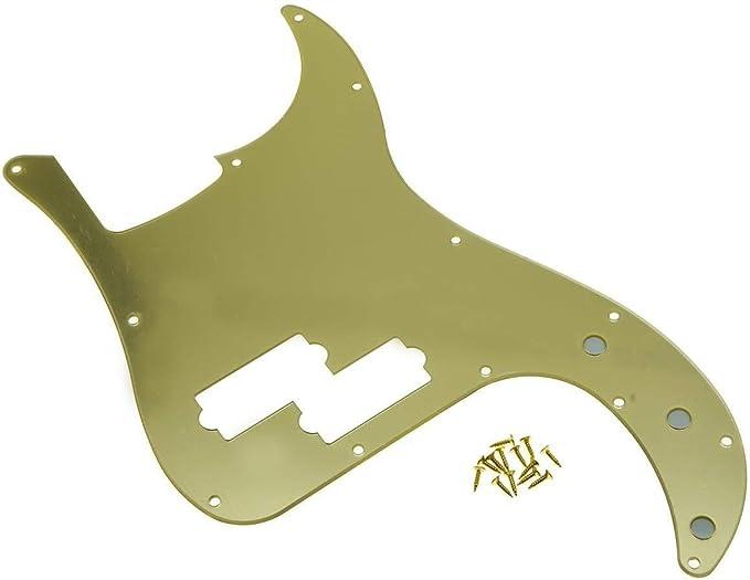 P-Bass USA Pickguard Precision Bass Rot Schildpatt 3ply Töpfe Holes 10mm