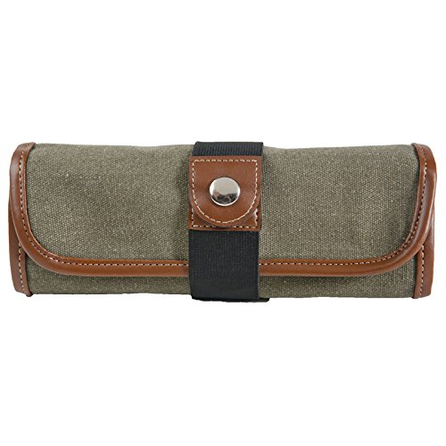 Global Art Materials Canvas Pencil Roll-Up, Olive