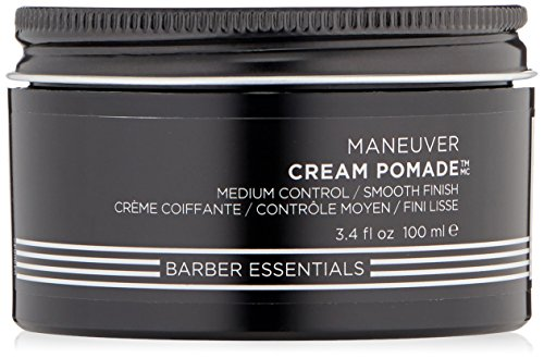 Redken Brews Cream Pomade For Men, Medium Hold, Natural Finish, 3.4 oz.