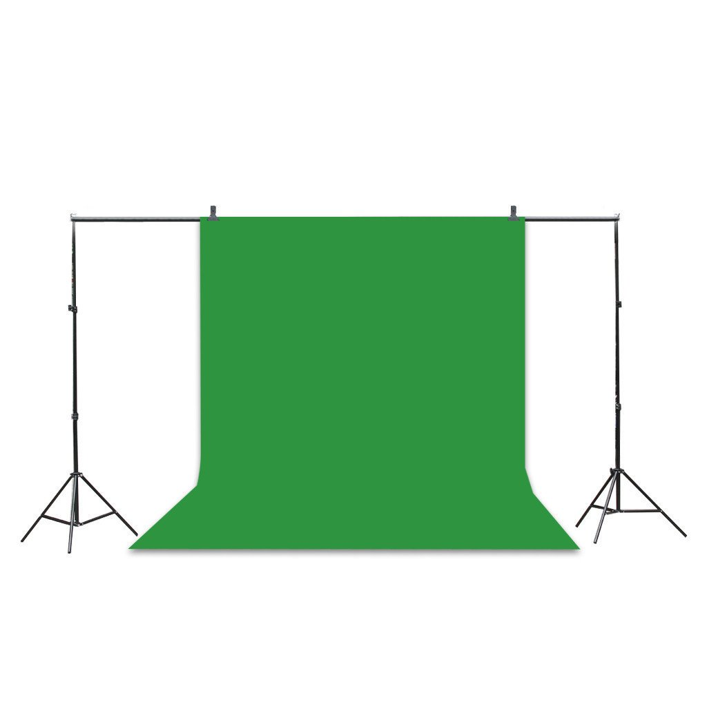 Photo Studio Backdrop 5 x 10FT / 1.6 x 3M Photography Studio Collapsible Backdrop Non-woven Background for Photography,Video and Television (Background Only) - Green