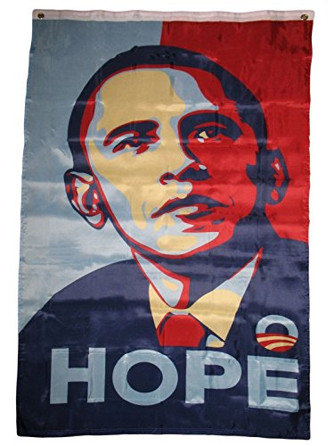 ALBATROS 3 ft x 5 ft Obama Hope Premium Quality Fade Resistant Flag Banner Grommets for Home and Parades, Official Party, All Weather Indoors Outdoors -