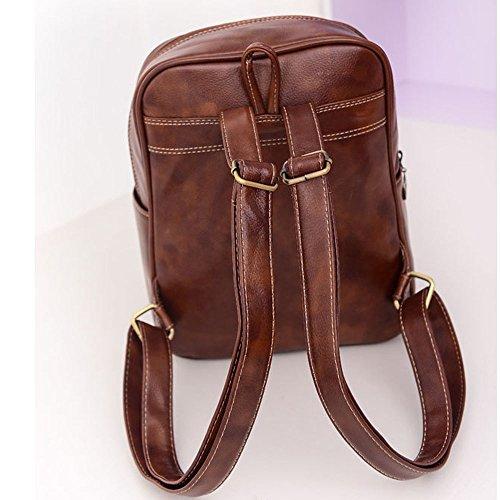 Backpack DELEY Tote Women Brown School Handbag Bag Satchel Shoulder Vintage fxAqWp