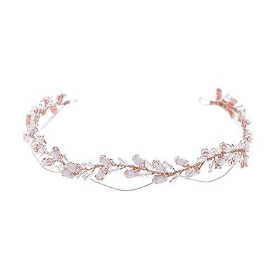 Strass Blume Stirnband Hochzeit Braut Tiara Haarband Kopf Stück Geschenk