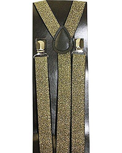 (Mens Womens Unisex Suspenders (gold)