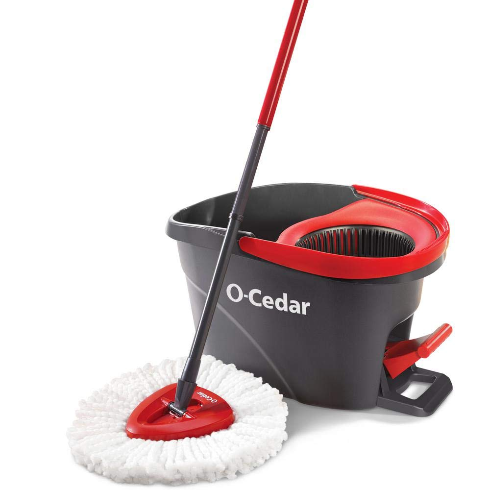 O-Cedar EasyWring Microfiber Spin Mop, Bucket Floor Cleaning System by O-Cedar