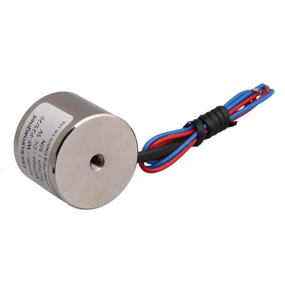 5V DC 11 LB 5kg 50N 0.8A Electric Lifting Holding Magnet Electromagnet 4W